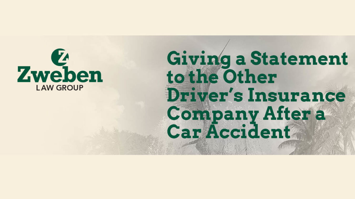 Giving a Statement to the Other Driver's Insurance Company After A Car Accident