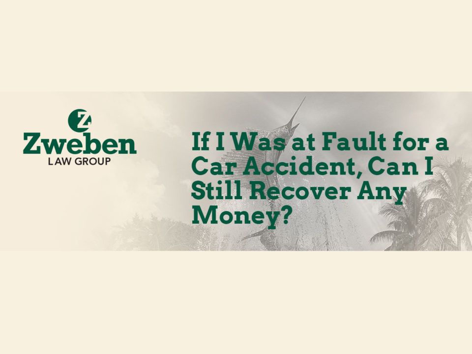 If I Was at Fault for a Car Accident, Can I Still Recover Any Money?