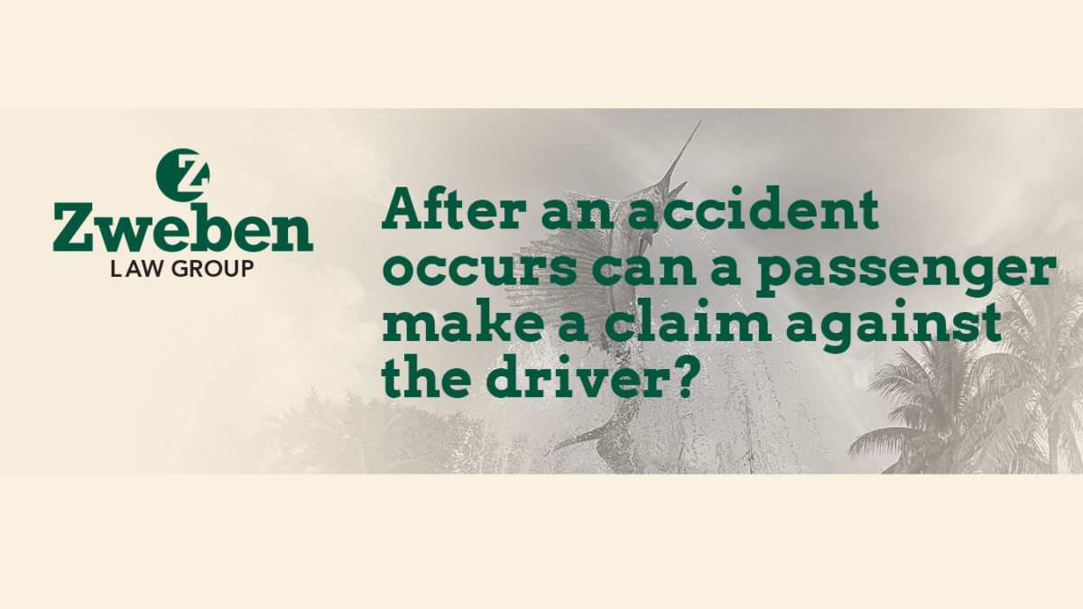 After an Accident Occurs Can A Passenger Make A Claim Against The Driver