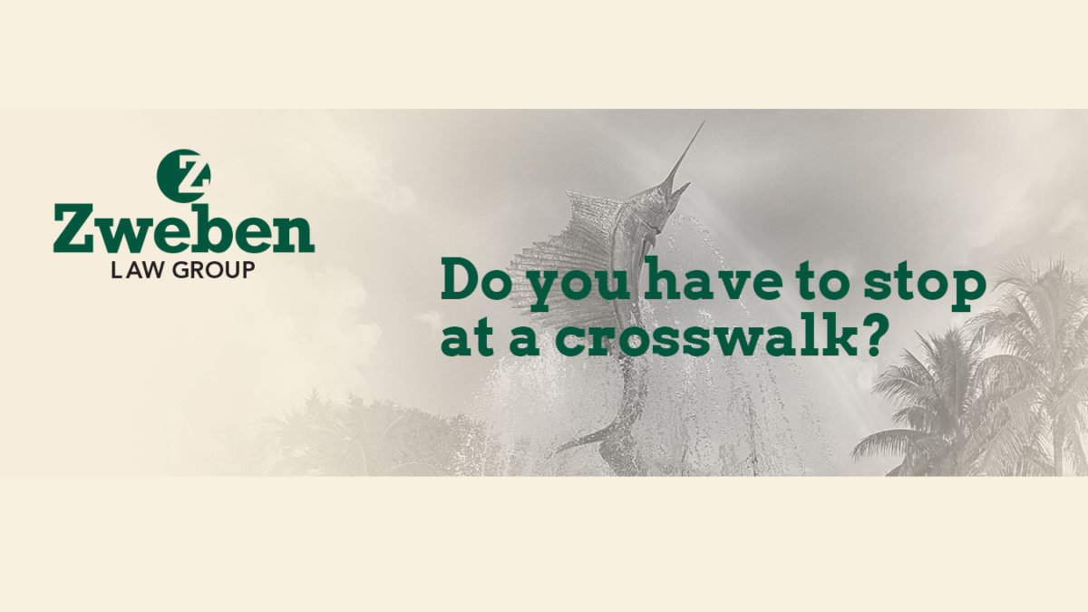 Do You Have To Stop At A Crosswalk?