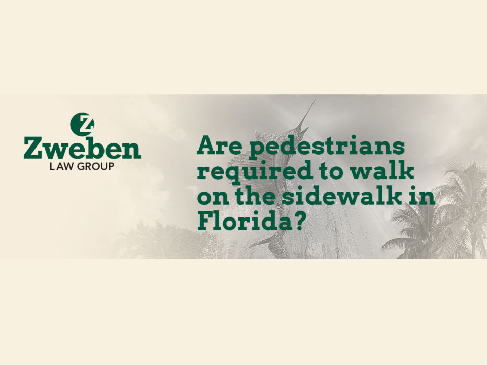 Are Pedestrians Required To Walk On Sidewalk Florida
