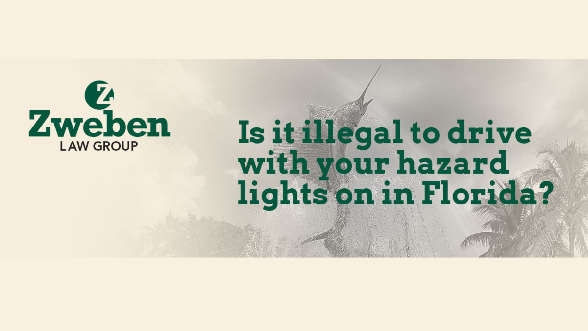 Is it illegal to drive with your hazard lights on in Florida?