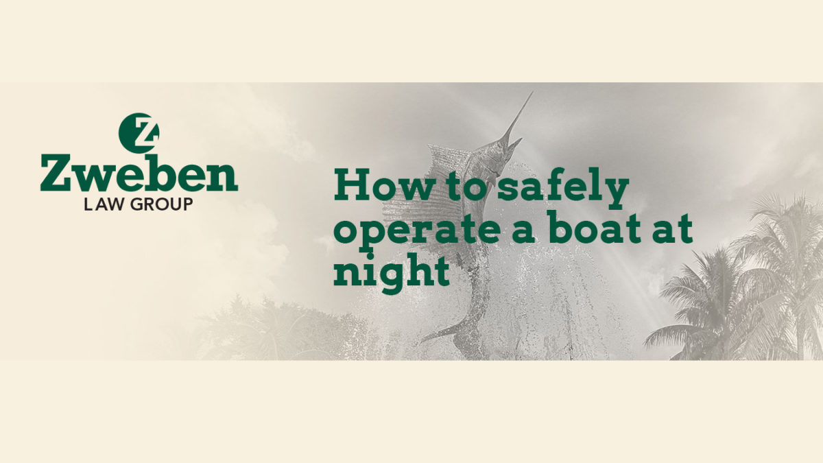 How to safely operate a boat at night