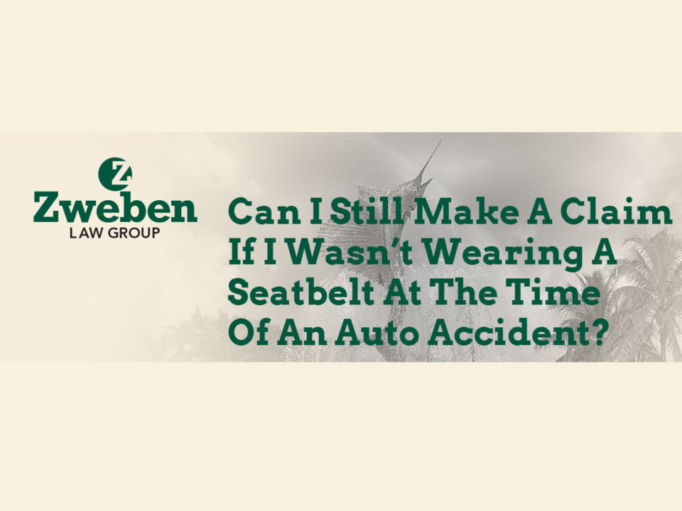 Can I Still Make A Claim If I Wasn't Wearing A Seatbelt At The Time Of An Auto Accident
